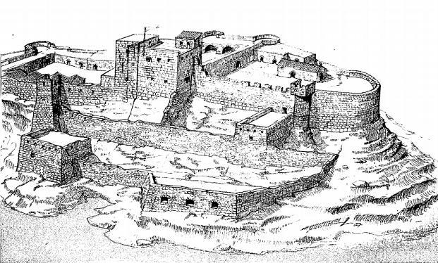 Graphic reconstruction of the Castrum Maris (Fort St Angelo) circa 1660.